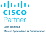 Cisco Gold Colab Blue Cropped